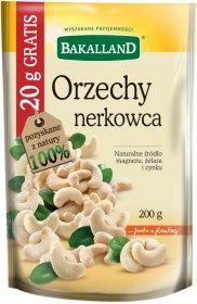 Orzechy nerkowca Bakalland, 180g + 20g Gratis