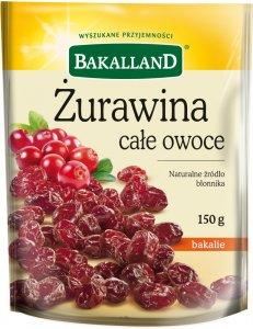 Żurawina całe owoce Bakalland, 150g
