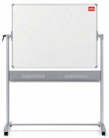 Tablica mobilna szklana suchościeralno-magnetyczna Nobo, Diamond, 120x90cm, biały