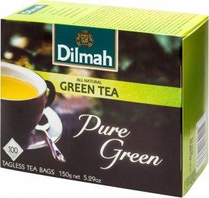 Herbata zielona w torebkach Dilmah Pure Green, 100 sztuk x 1.5g
