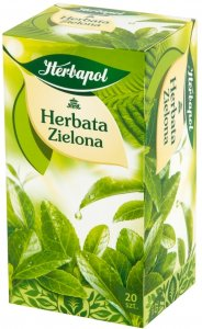 Herbata zielona w torebkach Herbapol, 20 sztuk x 2g