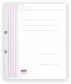 Skoroszyt kartonowy oczkowy 1/1 Bigo, do 350 kartek, 280g/m2, 50 sztuk, biały