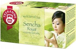 Herbata zielona smakowa w kopertach Teekanne Sencha Royal, 20 sztuk x 1.75g