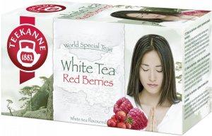 Herbata biała smakowa w kopertach Teekanne White Tea Red Berries, Żurawina&Malina, 20 sztuk x 1.25g