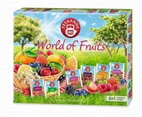Zestaw herbat owocowych w kopertach Teekanne, World of Fruits Tea Collection, 6 smaków, 30 sztuk x 2/2.25/2.5g