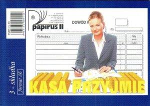 Druk akcydensowy Kasa przyjmie KP, A6, oryginał+2 kopie