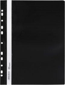 Skoroszyt plastikowy oczkowy Ofix Standard, twardy, A4, PVC, do 200 kartek, czarny