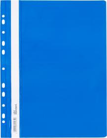 Skoroszyt plastikowy oczkowy Ofix Standard, twardy, A4, PVC, do 200 kartek, niebieski