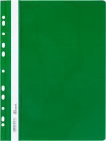 Skoroszyt plastikowy oczkowy Ofix Standard, twardy, A4, PVC, do 200 kartek, zielony