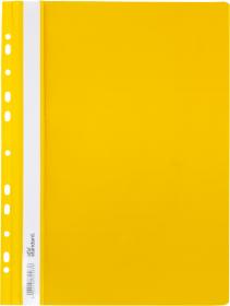 Skoroszyt plastikowy oczkowy Ofix Standard, twardy, A4, PVC, do 200 kartek, żółty