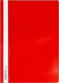 Skoroszyt plastikowy Ofix Economy, A4, PP, do 200 kartek, czerwony