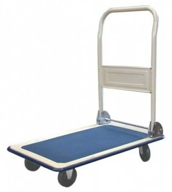 Wózek platformowy BM serwis, PAA-020, 72x47cm, niebiesko-biały