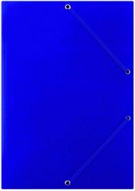Teczka kartonowa z gumką Donau, A4, 400g/m2, niebieski