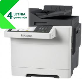 Urządzenie wielofunkcyjne Lexmark CX517de, z drukarką, kopiarką, skanerem i faxem, kolor