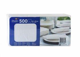 Serwetki bibułkowe Duni, 33x33cm, jednowarstwowe, 500 sztuk, biały