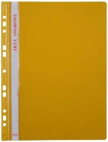 Skoroszyt plastikowy oczkowy Biurfol, do akt osobowych, A4, do 200 kartek, żółty