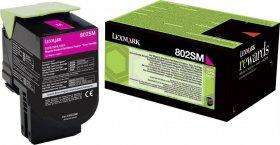 Toner Lexmark 80C2SM0 (802SM), 2000 stron, magenta (purpurowy)
