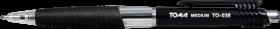 Długopis automatyczny Toma TO-038, Medium, 1mm, czarny