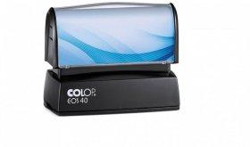 Pieczątka flashowa Colop Printer EOS 40, obudowa czarna, wkład niebieski