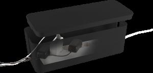 Organizer do kabli LogiLink Cable Box, 407x157x133.5mm, czarny
