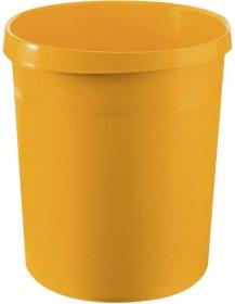 Kosz na śmieci Han Grip, 18l, żółty