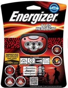 Latarka czołowa Energizer Headlight 4 Led + 3xAAA, czerwono-czarny