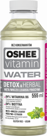 Napój Oshee Vitamin Water, Detox & Herbal, butelka, 555ml