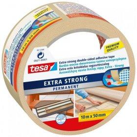 Taśma dwustronn Tesa Extra Strong, do wykładzin, 10m x 50mm, biały