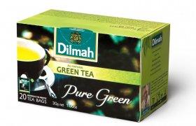 Herbata zielona w kopertach Dilmah Pure Green Tea, 20 sztuk x 1.5g