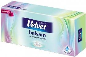 Chusteczki higieniczne Velvet Balsam Zapach, w kartoniku, 70 sztuk