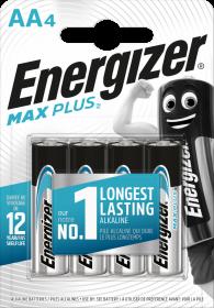 Bateria Energizer Max Plus, AA, LR6, 1.5V, 4 sztuki