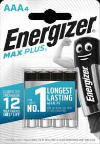 Bateria alkaliczna Energizer Max Plus, AAA, LR03, 1.5V, 4 sztuki