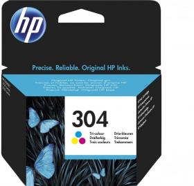 Tusz HP 304 (N9K05AE), 100 stron, CMY cyan (błękitny), magenta (purpurowy), yellow (żółty)