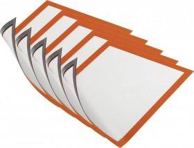 Ramka magnetyczna Durable Magnetic, A4, 5 sztuk, pomarańczowy