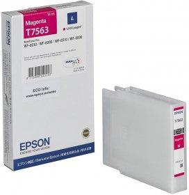 Tusz Epson (C13T756340), T7563 L, 14ml, 1500 stron, magenta (purpurowy)