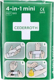 Zestaw opatrunkowy do tamowania krwi Cederroth 4-in-1 (REF-1911), mini