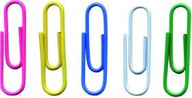 Spinacz Office Products, okrągły, w woreczku, 28mm, 500 sztuk, mix kolorów