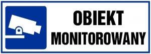 """Znak informacyjny Anro, """"Obiekt monitorowany"""", płytka PVC, 10.5x29.7cm"""