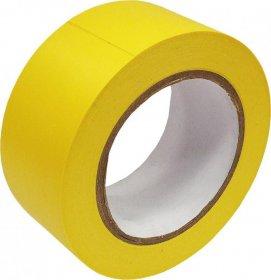 Taśma ostrzegawcza samoprzylepna, odporna na ścieranie, 100mm x 33m, żółty