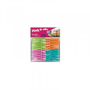 Klamerki York lux,20 sztuk, mix kolorów