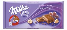 Czekolada Milka Raisin&Nut, rodzynki i orzechy, 100g