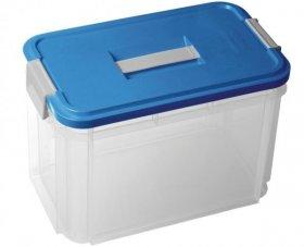 Pojemnik Curver, z rączką , 370x220x255mm, 14l, transparentny/niebieski