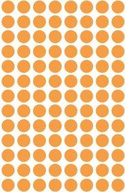 Etykiety oznaczeniowe Avery Zweckform, okrągłe, średnica 8mm, 416 sztuk, pomarańczowy