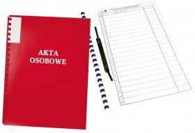 Teczka do akt osobowych Warta, A4, z bindą zewnętrzną, niezadrukowana, ABCD, czerwony