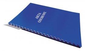 Teczka do akt osobowych Warta, A4, z bindą zewnętrzną, niezadrukowana, ABCD, niebieski