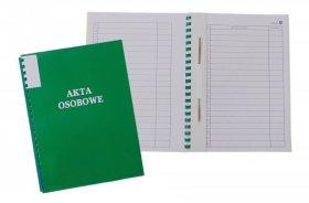 Teczka do akt osobowych Warta, A4, z bindą zewnętrzną, niezadrukowana, ABCD, zielony