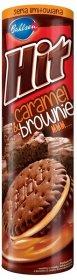 Ciastka Hit Caramel & Brownie, kakaowe z kremem karmelowym, 220g