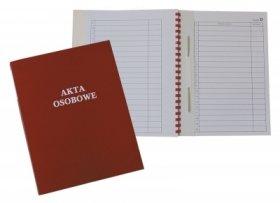 Teczka do akt osobowych Warta, A4, z bindą wewnętrzną, niezadrukowana, ABCD, czerwony