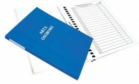 Teczka do akt osobowych Warta, A4, z bindą wewnętrzną, niezadrukowana, ABCD, niebieski