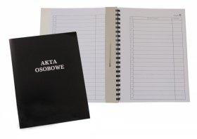 Teczka do akt osobowych Warta, A4, z bindą wewnętrzną, niezadrukowana, ABCD, czarny